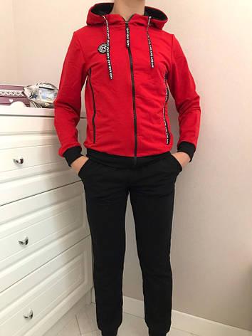 Спортивный костюм для мальчика р.134-164 красный+черный, фото 2