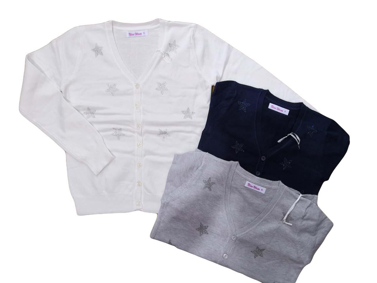 Кардиганы для девочек опт, размеры 4-12 лет, Nice Wear, арт. GJ 977