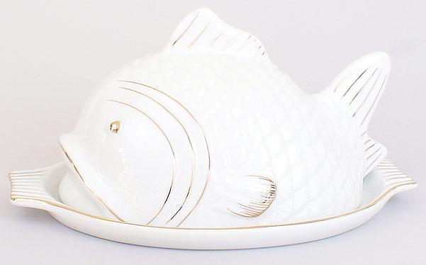 Паштетница фарфоровая 22.5см Рыба XX878
