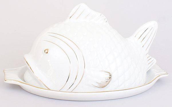 Паштетница фарфоровая 22.5см Рыба XX878, фото 2