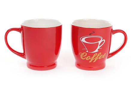 Кружка фарфоровая кофейная Coffee 220мл, 4 вида, фарфор, в упаковке 12шт. (588-134), фото 2