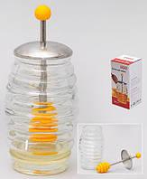Банка стеклянная для меда с ложкой, 250мл 407-007