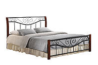 "Кровать двухспальная ""Ленора""1400х2000каштан"