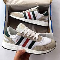 Мужские кроссовки Adidas Originals Iniki Runner Gucci ( реплика 1 в 1 оригинал)