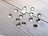 Страз пришивной сердце 1,2 см акрил