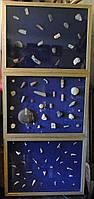3 коллажа- ископаемые до десятков млн лет, палеонтология, археология, стильно в кабинет, ВИП подарок