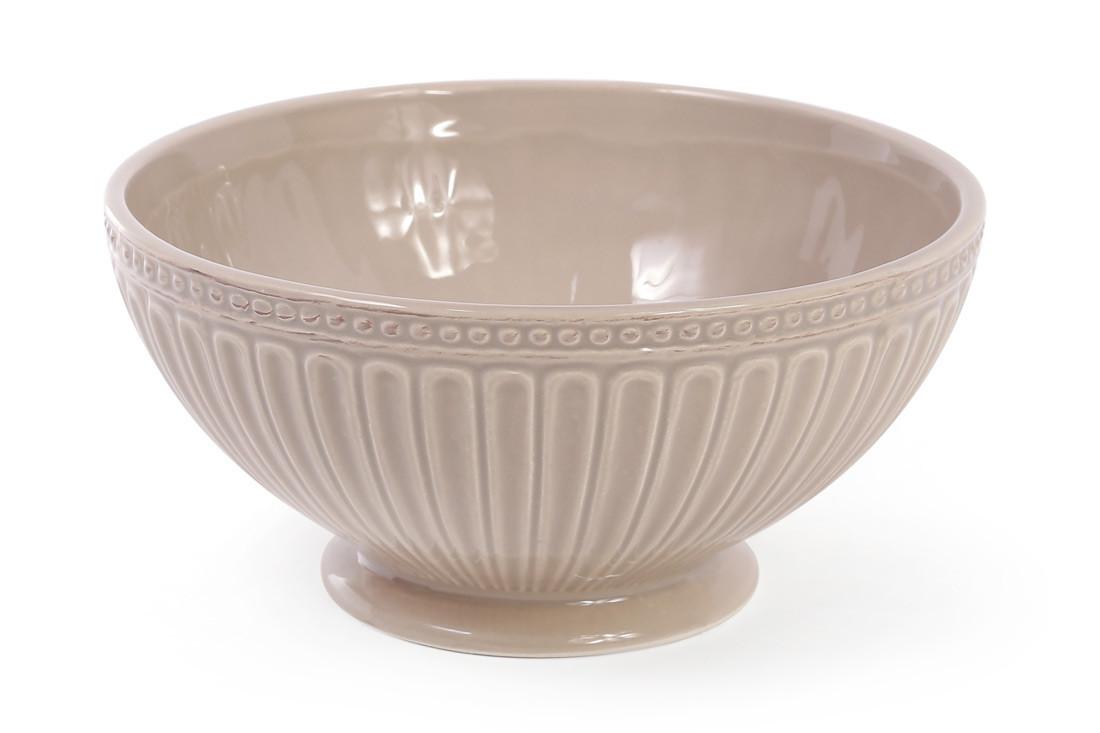 Пиала керамическая 750мл, цвет - бежевый 545-308