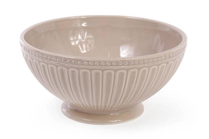 Пиала керамическая 750мл, цвет - бежевый 545-308, фото 2