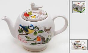 Чайник заварювальний керамічний 1260мл Птиці DK488-B