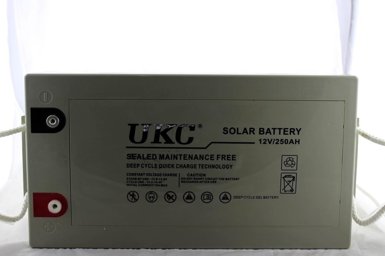 Аккумулятор гелевый кислотно-свинцевый  BATTERY GEL 12V 250A UKC