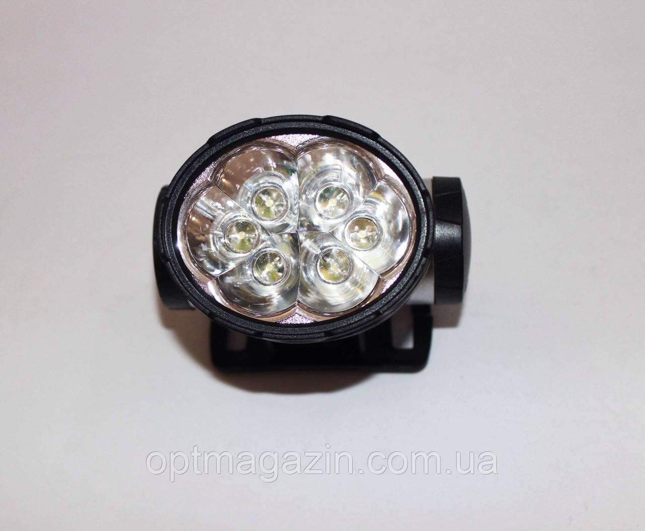 Ліхтарик налобний 6 LED ламп