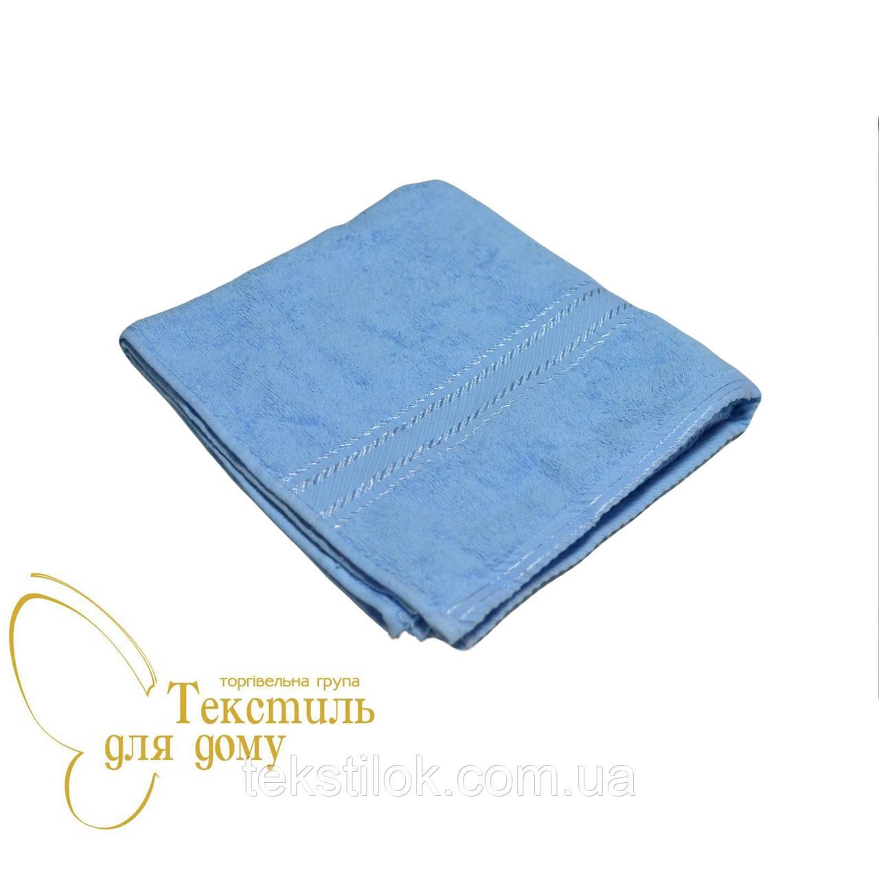 Полотенце лицевое 50*100, 420 гр/м2,16/1, светло-голубое