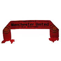 Шарфик зимний для болельщиков двусторонний Manchester United FB-3028