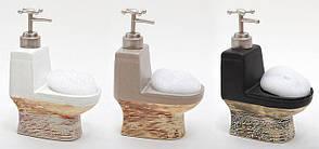 Дозатор для жидкого мыла с губкой 19.6см, 3 вида 853-105