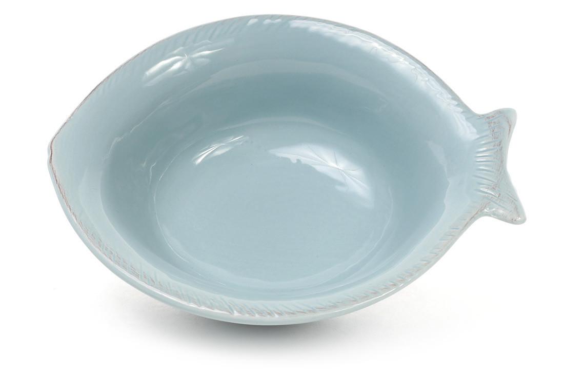 Пиала керамическая в форме рыбы, цвет - бирюза 545-400