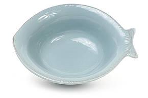 Пиала керамическая в форме рыбы, цвет - бирюза 545-400, фото 2