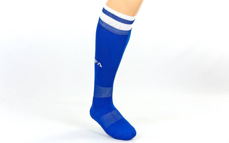 Гетры футбольные Fifa синий, белая полоса CO-5507-B (реплика)