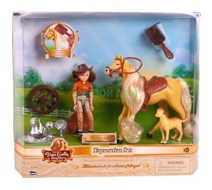 Игровой набор лошадь с наездником Lanard