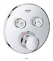 Внешняя панель термостата Grohe Grohtherm SmartControl на 2 выхода хром 29119000