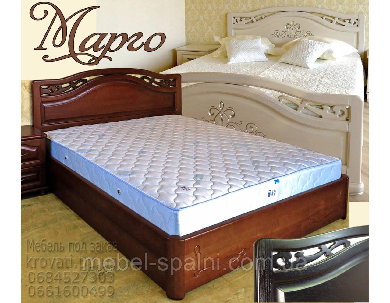 """Кровать деревянная двуспальная  """"Марго"""" kr.mg6.2"""