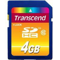 Карта памяти 4Gb SDHC class 10 Transcend (TS4GSDHC10)