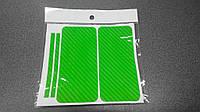 Пленка скин карбон Carbon зеленая на iPhone 5/5S