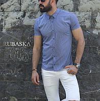 Мужская рубашка  в узор  с коротким рукавом, фото 1