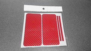 Пленка скин карбон Carbon красная на iPhone 5/5S