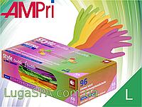 Перчатки нитриловые разноцветные Tutti Frutti, AMPri