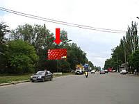 Щит г. Николаев, Херсонское шоссе, 94 / ул. Космонавтов, строительный рынок, из центра