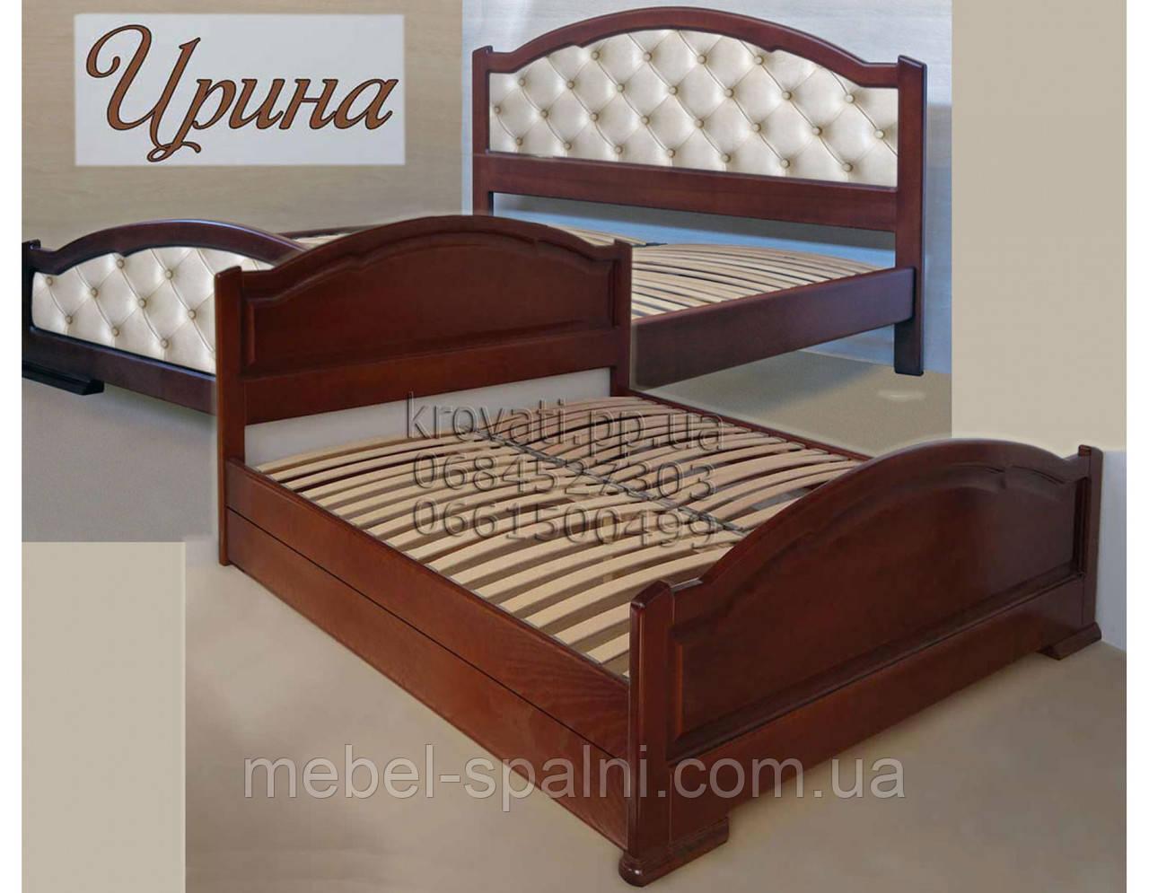 """Кровать  деревянная двуспальная """"Ирина"""" kr.ir6.1"""