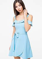 Однотонное женское летнее платье(5987-5986ie)