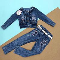 Костюм джинсовый для девочки. 9-11 месяцев