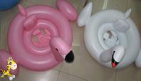 Детский надувной круг-плотик TT14006 Лебедь и Фламинго