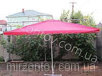 Зонт торговый 2,3 х 3,3 м прямоугольный красный, синий, без клапана, фото 1