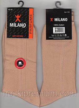 Носки мужские демисезонные 100% хлопок Milano Parfume, Турция, 40-45 размер, бежевые, 02428