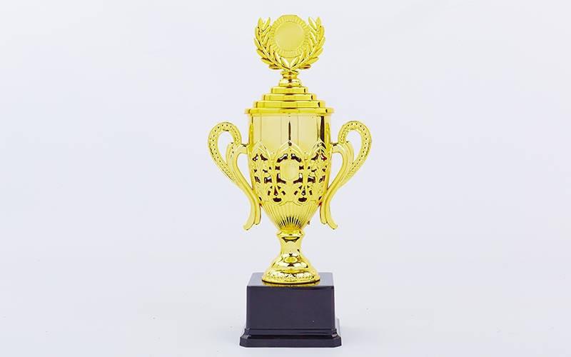 Кубок спортивный с ручками, крышкой и местом под жетон FLASH C-866В