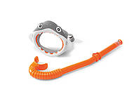 Набор маска+трубка 3-8 лет 55944, Набор для плавания акула, Маска для дайвинга детская