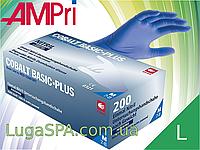 Рукавички нітрилові сині (200 шт.) COBALT BASIC-PLUS, AMPri
