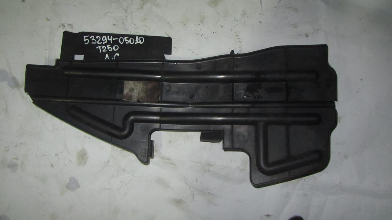 Воздуховод (дефлектор) пластик радиатора левый Toyota Avensis T250 T25 2003-2008 5329405010