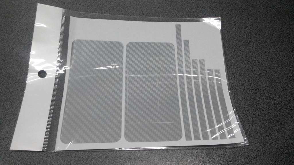 Пленка скин карбон Carbon серая на iPhone 4/4S