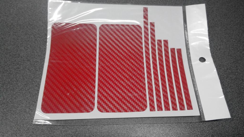 Пленка скин карбон Carbon красная на iPhone 4/4S