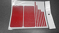 Пленка скин карбон Carbon красная на iPhone 4/4S, фото 1