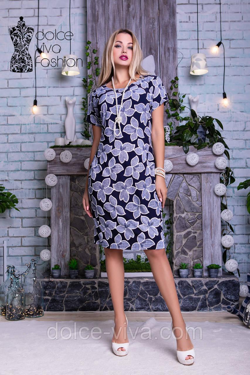 3e144dc64814732 Нарядное женское летнее платье размеры 46-56 код 1775 -