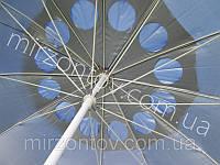 Зонт торговый-пляжный с клапаном 2,65 м дм 12 спиц зеленый, красный, синий, фото 1