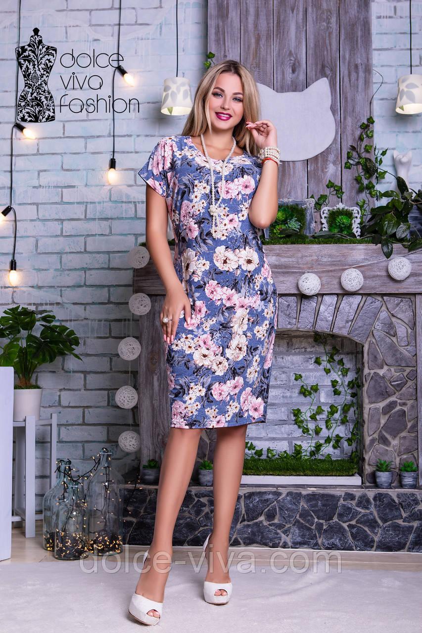 5d450bb91cbba58 Нарядное женское летнее платье размеры 46-56 код 1779 -