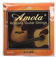 Amola A110 Bronze, струны для акустической гитары, набор .011 - .050