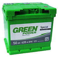 Аккумулятор GREEN POWER 6СТ-50Ah 420A (0) правый +R Евро