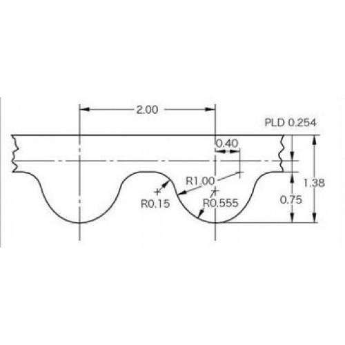 Ремень зубчатый GT2 610-2GT-6  длина развернутого 610 мм