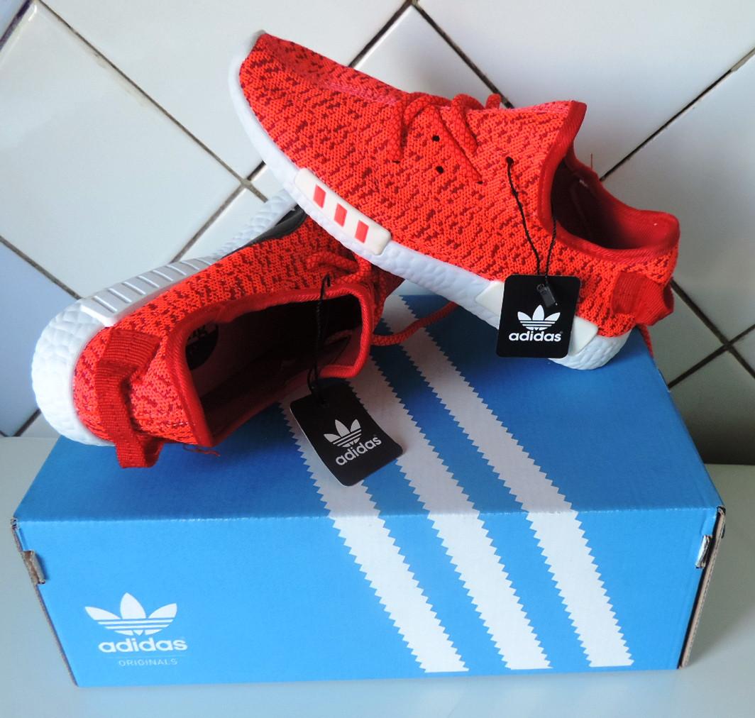 Женские кроссовки Адидас (Adidas) - Yeezy Boost 350. Летние кроссовки,реплика.  Красные 551e3e0a279